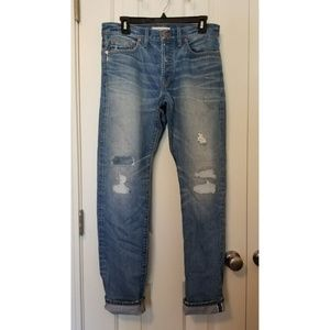 Madewell Rivet & Thread Cone Selvedg Slim Boy Jean